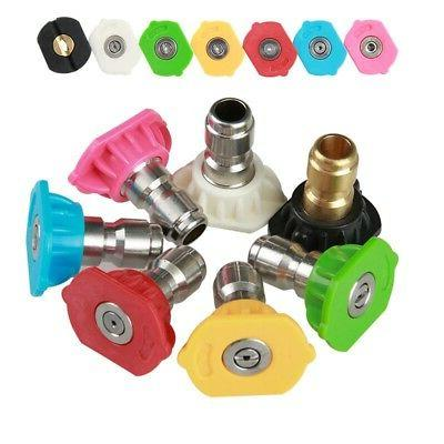 5000PSI Power Pressure Washer Accessories Nozzle Tips Pivoti