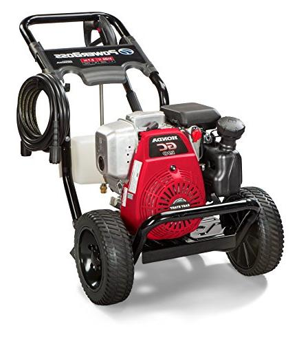 PowerBoss Gas Washer 3100 PSI, 2.7 Powered by HONDA Engine with High Pressure Hose, Nozzles &