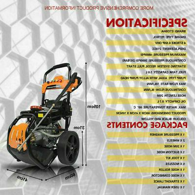 ETOSHA Pressure Washer 6.5HP with Spray Nozzles