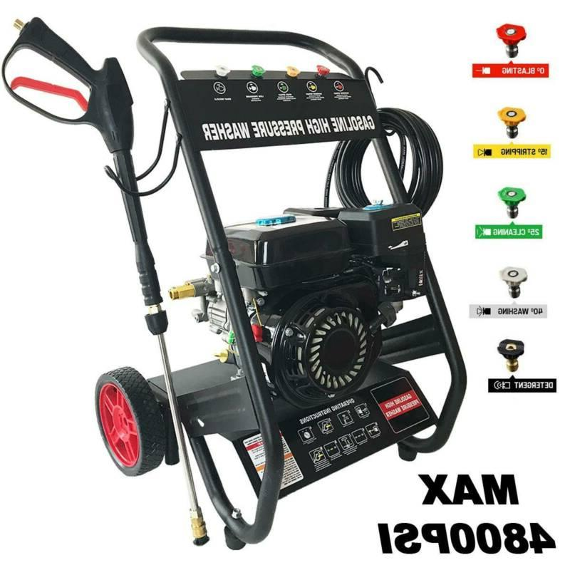 pressure washer 4800psi 7hp gas with power