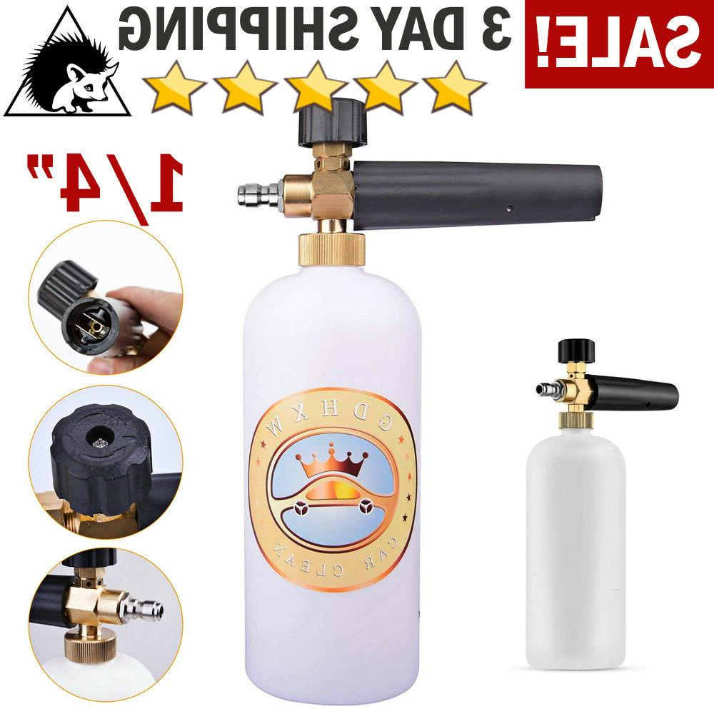 Snow Foam Lance Cannon Soap Bottle Sprayer For Pressure Wash