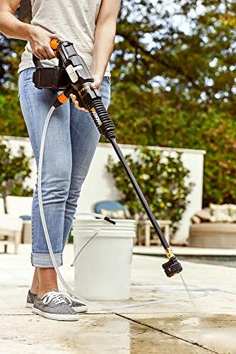 WORX 40V Power Share Hydroshot Cleaner, 2 Batteries Charger Included
