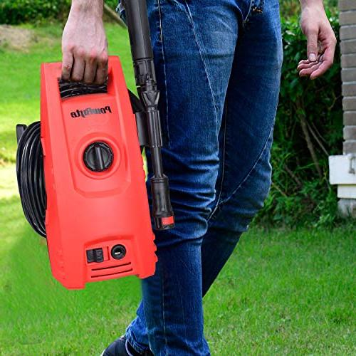 PowRyte Works 1.6 GPM Electric Pressure Portable Electric Power Washer Detergent Dispenser
