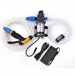 Dewel 100W 12V Portable Pressure Washer Car Wash Cleaning Sy