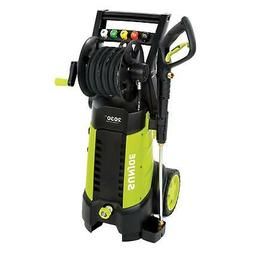 Powerful 14.5 Amp Electric Pressure Washer Organized Hose Re