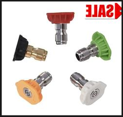 Obecome Pressure Multiple Degrees Washer Spray Nozzle Tips,5