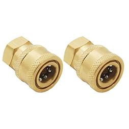 Twinkle Star Pressure Washer Brass Quick Coupler Fittings,1/
