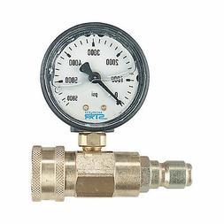 NorthStar Pressure Washer Pressure Gauge - 5000 PSI, 38in. F