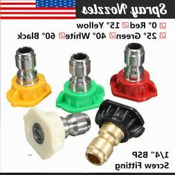 Pressure Washer Spray Nozzle Tips 1/4 Quick Connect Design 2