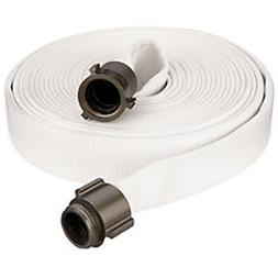 "Key Fire Single Jacket Fire Hose, White, 2-1/2"" ID, 50 feet,"