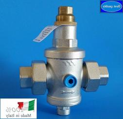 "Water Pressure Reducing Valve 3/4"" NPT Threaded Double Union"