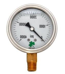 Zenport LPG4000 Zen-Tek Glycerin Liquid Filled Pressure Gaug